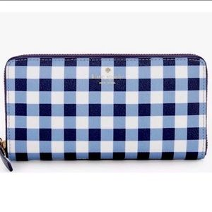 NWT Kate Spade Hyde Lane Gingham Michele Wallet